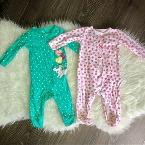 Baby girl pajama bundle